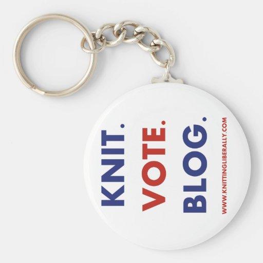 Knitting Liberally Key Chain