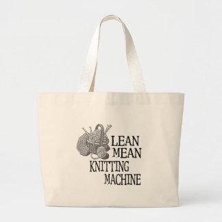 Knitting Machine Large Tote Bag