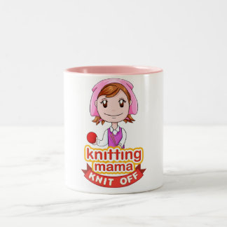 Knitting Mama Two-Tone Coffee Mug