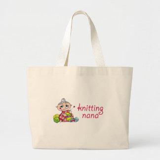 Knitting Nana Large Tote Bag