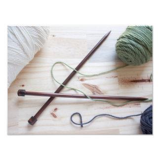 Knitting Needles Art Photo