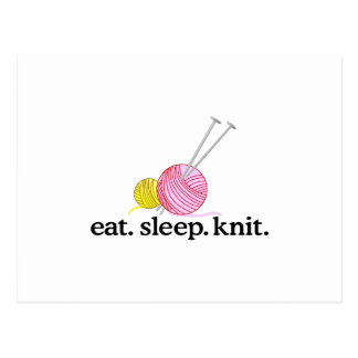Knitting Needles & Yarn Postcard