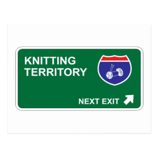 Knitting Next Exit Postcard