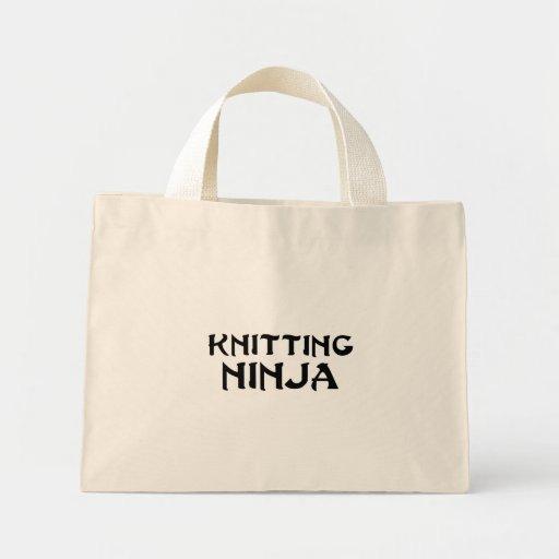 Knitting Ninja Mini Tote Bag