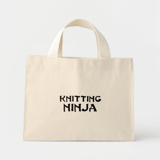 Knitting Ninja Mini Tote Bag