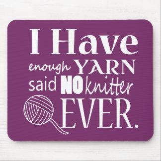 Knitting • Not Enough Yarn Crafts [Dark} Mouse Mat