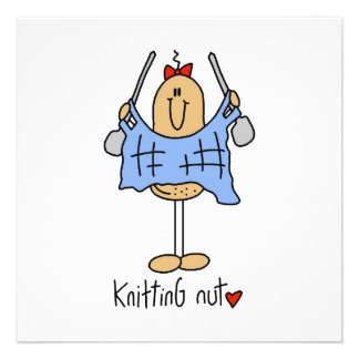 Knitting Nut T-shirts and Gifts Personalized Announcement