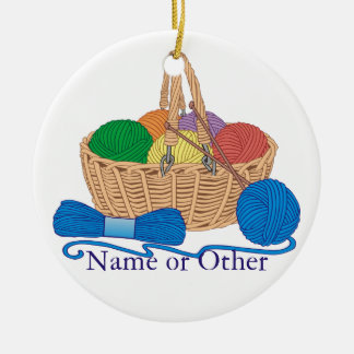 Knitting Personalized Christmas Ornament