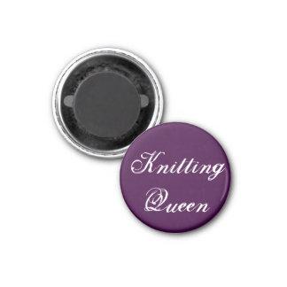 Knitting Queen 3 Cm Round Magnet