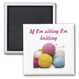 Knitting quotes magnet