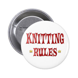 Knitting Rules 6 Cm Round Badge