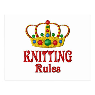 KNITTING RULES POSTCARD