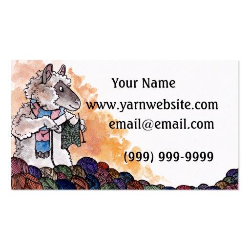 Knitting Sheep Business Card