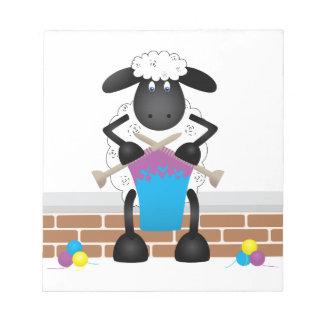 Knitting Sheep For Ewe Notepad