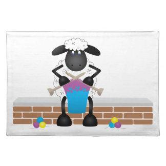Knitting Sheep For Ewe Placemat