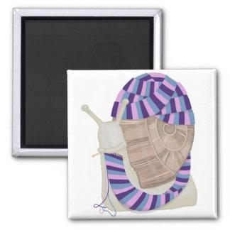 Knitting Snail Magnet
