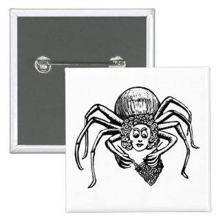 Knitting Spider (Tess) 15 Cm Square Badge