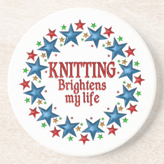 Knitting Stars Coaster