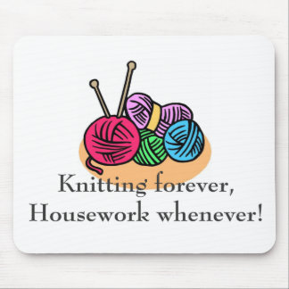 Knitting T-shirts and Gifts. Mouse Mat