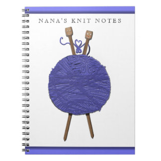 knitting-themed gifts spiral notebook