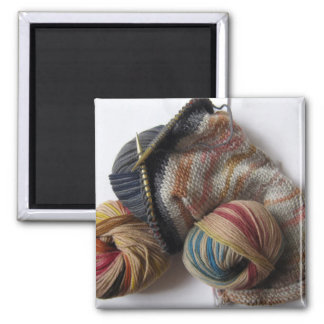 Knitting with Wool Yarn Magnet