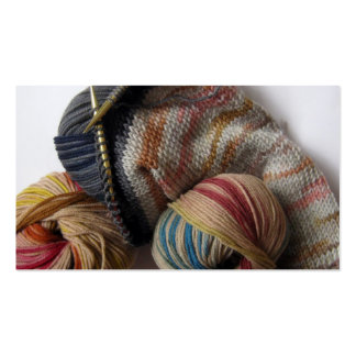 Knitting with Wool Yarn Pack Of Standard Business Cards