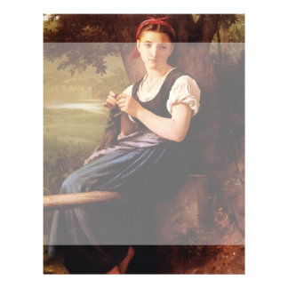 Knitting Woman by William-Adolphe Bouguereau Personalized Flyer
