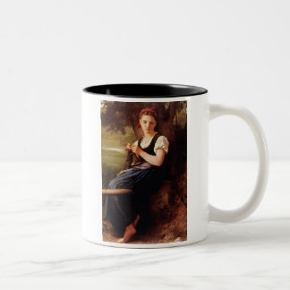 Knitting Woman by William-Adolphe Bouguereau Two-Tone Mug