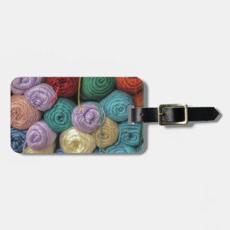 Knitting Yarn Luggage Tag
