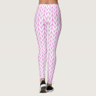 Knitting Yarn Pattern Pink Decor Leggings