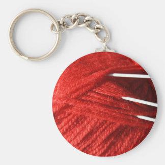 Knitting Yarn/Wool with Needles  Key Chain