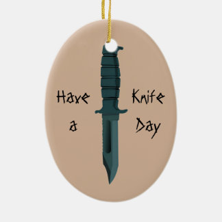Knives Have a Knife Day Ceramic Oval Decoration