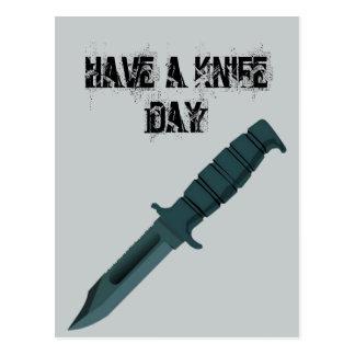 Knives Have a Knife Day Postcard