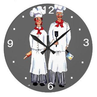 Kniving Chefs Wall Clock