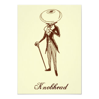 Knobhead 13 Cm X 18 Cm Invitation Card