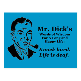 Knock Hard Post Cards
