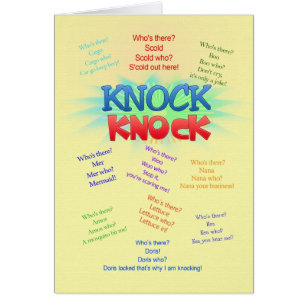Knock jokes cards invitations zazzle knock knock jokes birthday card stopboris Gallery