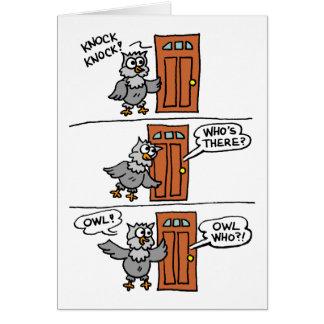 Knock Knock Owl Always Love You Valentine Card