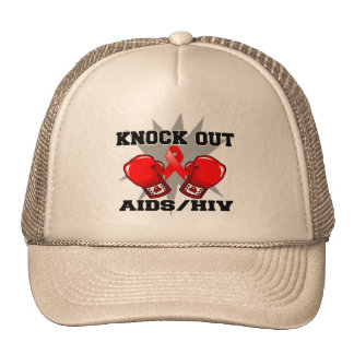Knock Out AIDS HIV Hats