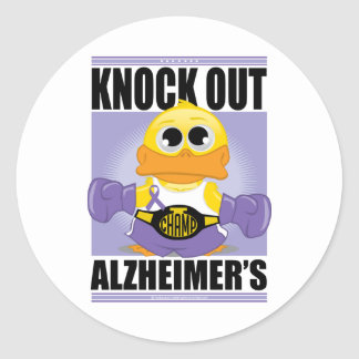 Knock Out Alzheimer's Disease Round Sticker