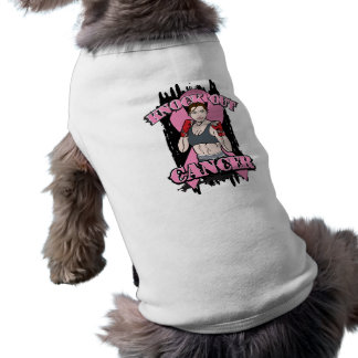 Knock Out Breast Cancer Dog T-shirt