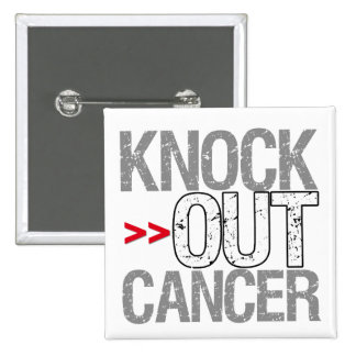 Knock Out Cancer - Bone Cancer Pin
