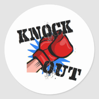 Knock Out Classic Round Sticker