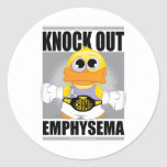 Knock Out Emphysema Round Sticker