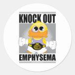 Knock Out Emphysema Round Sticker