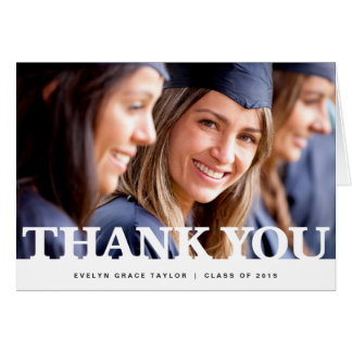 Knock out | Graduation thank you note card