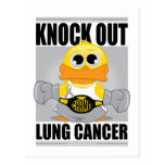 Knock Out Lung Cancer Post Card