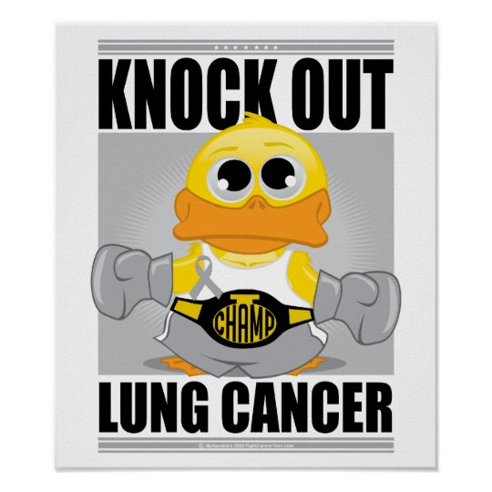 Knock Out Lung Cancer Poster