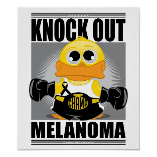 Knock Out Melanoma Posters