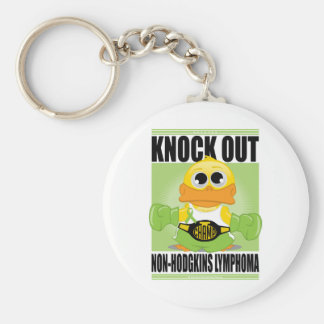 Knock Out Non-Hodgkins Lymphoma Basic Round Button Key Ring